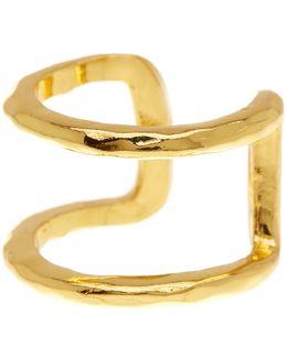 Teagan Hammered Cuff Ring - Size 7