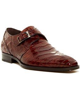Gables Genuine Crocodile Monk Strap Shoe