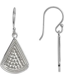 Sterling Silver Fan Drop Earrings
