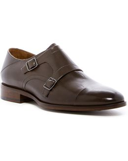 Nolen Double Monk Cap Toe Leather Derby