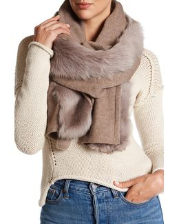 Ugg(r) Genuine Shearling Wool Blend Luxe Scarf