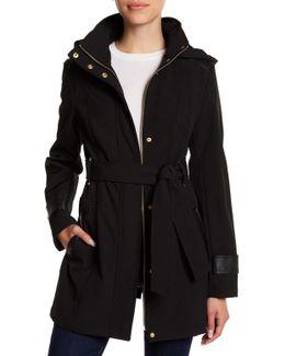 Hooded Waist Belt Coat (petite)