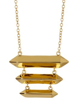 18k Gold Plated Layla Tiered Necklace