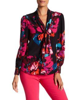 True Floral Silk Blouse