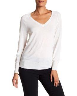 Evangeline Wool V-neck Sweater