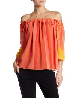 Yamille Stripe Off-the-shoulder Blouse