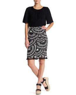 Dorris Printed Pencil Skirt