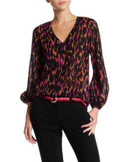 Welcome Printed Silk Blend Blouse