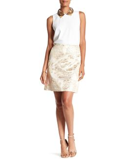 Flores Embroidered Skirt