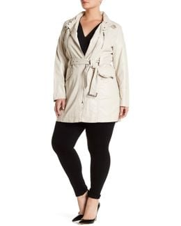 Asymmetrical Zip Anorak (plus Size)