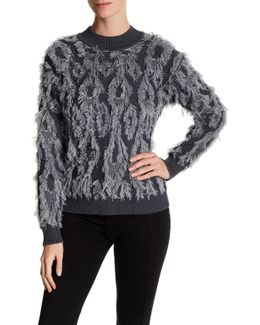 Clipped Contrast Pullover