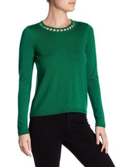 Bar Inset Wool Pullover