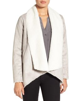 Cascade Faux Shearling Coat