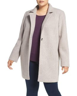 Ribbed Wool-Blend Coat
