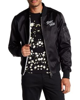 Sonic Youth Embroidered Logo Bomber Jacket