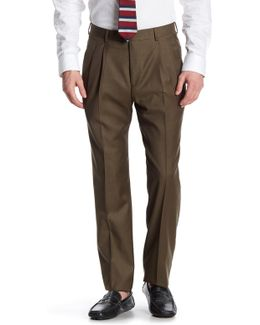 Pleated Wool Classic Fit Trouser