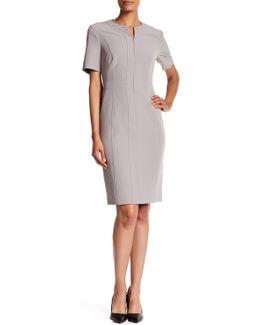 Front Zip Embellished Dress