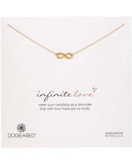 14k Gold Plated Sterling Silver Infinite Love Infinity Charm Necklace