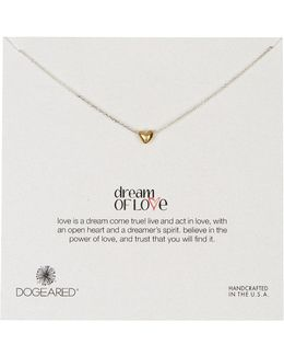 14k Gold Plated Sterling Silver Dream Of Love Heart Pendant Necklace