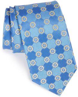 Perez Floral Medallion Silk Tie