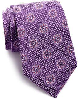 Portale Medallion Silk Tie