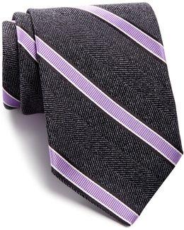 Frost Stripe Silk Tie