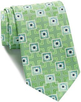 Torsone Geometric Silk Tie
