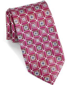 Strode Medallion Woven Silk Tie