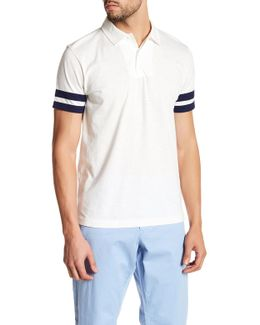 Stripe Sleeve Polo
