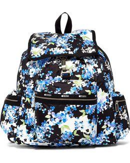 Nylon 3-zip Voyager Backpack