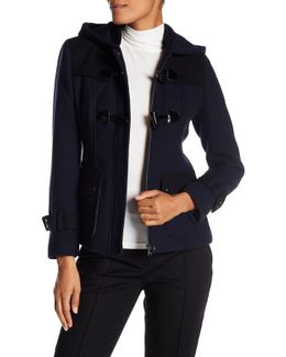 Textured Toggle Button Coat