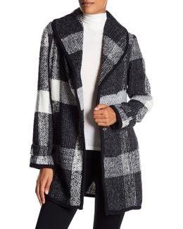 Unlined Plaid Wool Coat
