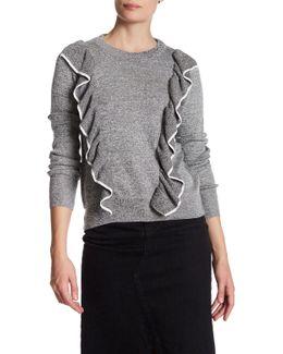 Tipped Ruffle Sweatshirt