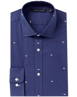 Sunglasses Print Slim Fit Dress Shirt