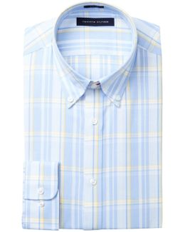 Plaid Slim Fit Dress Shirt
