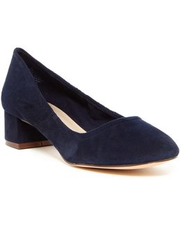 Edwards Low Block Heel Pump