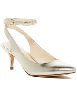 Pointed Toe Metallic Studded Pump