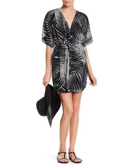 Print Belted Cover-up