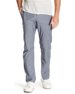 "Solid Slim Fit Tapered Pant - 30-34"" Inseam"