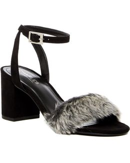 Kandy Faux Fur Block Heel Pump
