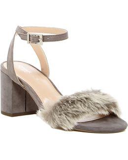 Kandy Faux Fur Block Heel Pump