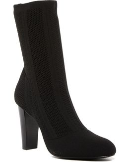 Shirley Herringbone Stretch Sock Bootie