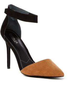 Pointed Microsuede Heeled Sandal