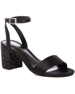 Keenan Glitter Block Heel Sandal