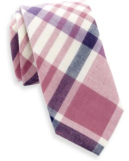Terrance Plaid Slim Tie