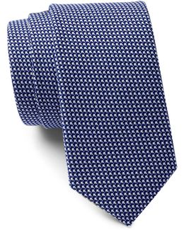 Cottage Woven Dot Tie