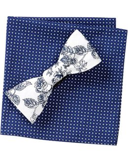 Gates Floral Bow Tie & Pocket Square Set