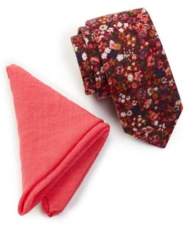 Marlowe Floral Tie & Pocket Square Set