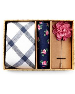 Merrick Grid Tie, Pocket Square, & Lapel Pin Box Set