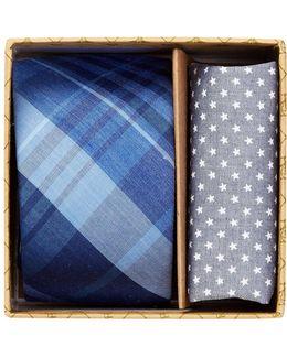 Conrad Plaid Tie & Pocket Square 2-piece Set